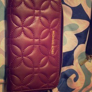 Michael Kors velvet wallet